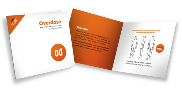 Overdose and naloxone booklet and dvd