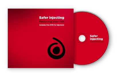 Safer injecting booklet and dvd