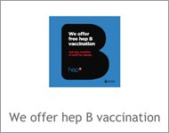 We offer hep B vaccination